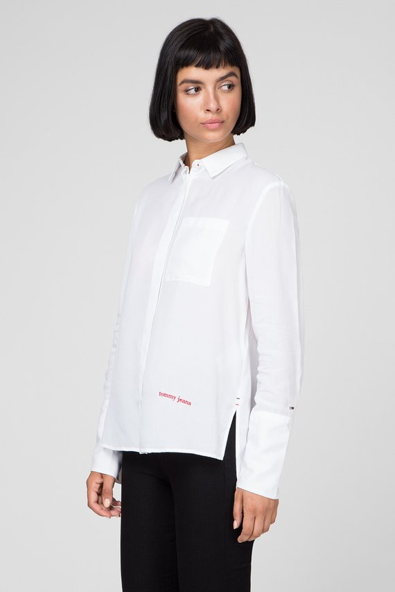 Женская белая рубашка TJW DRAPEY SIDE SLIT