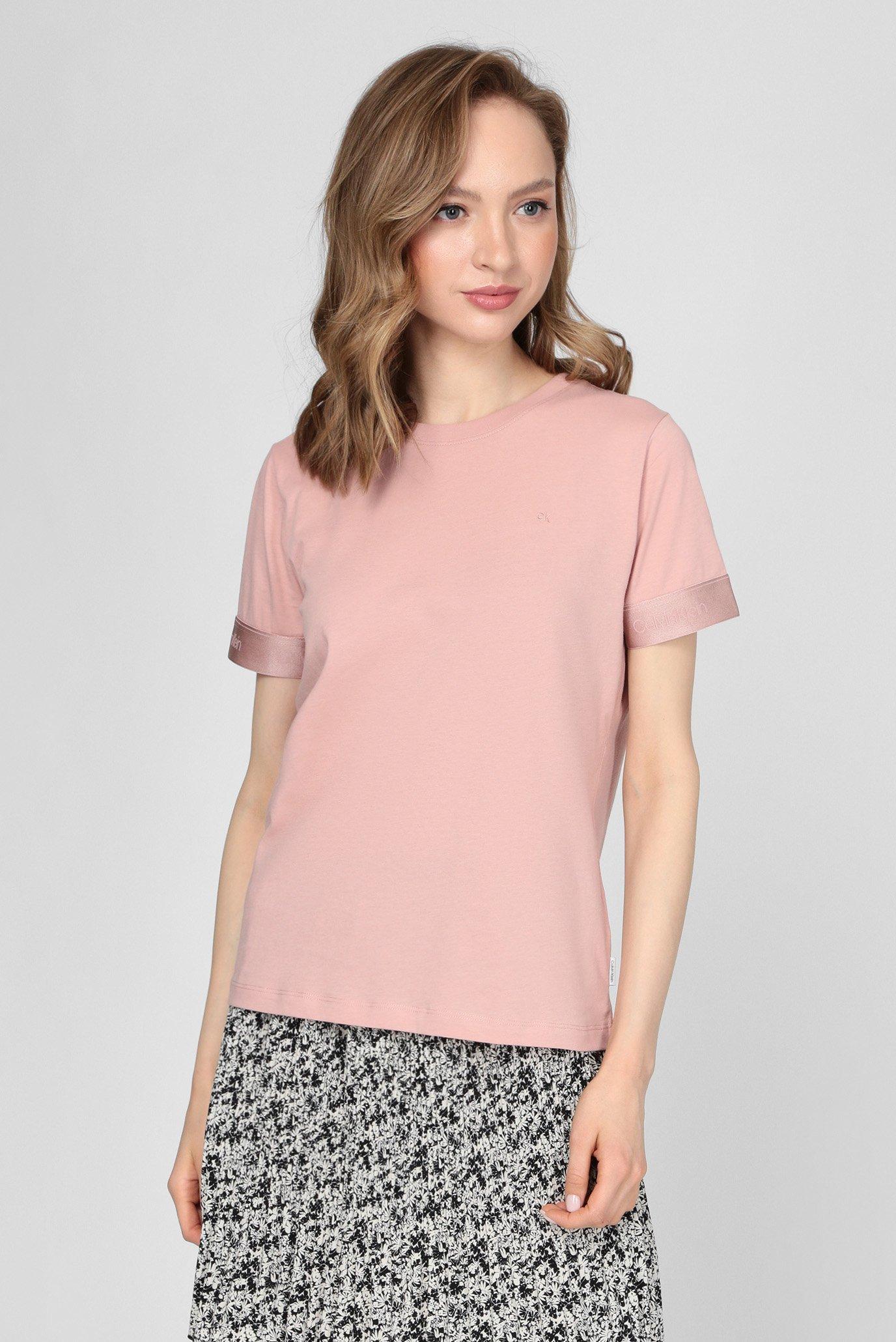 Женская пудровая футболка ATHLEISURE 1