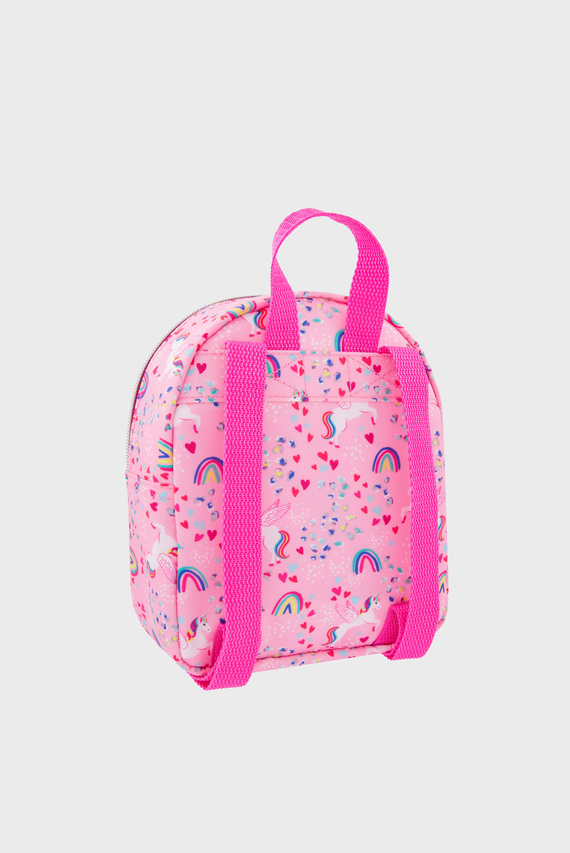 Детский розовый рюкзак RETRO UNICORN