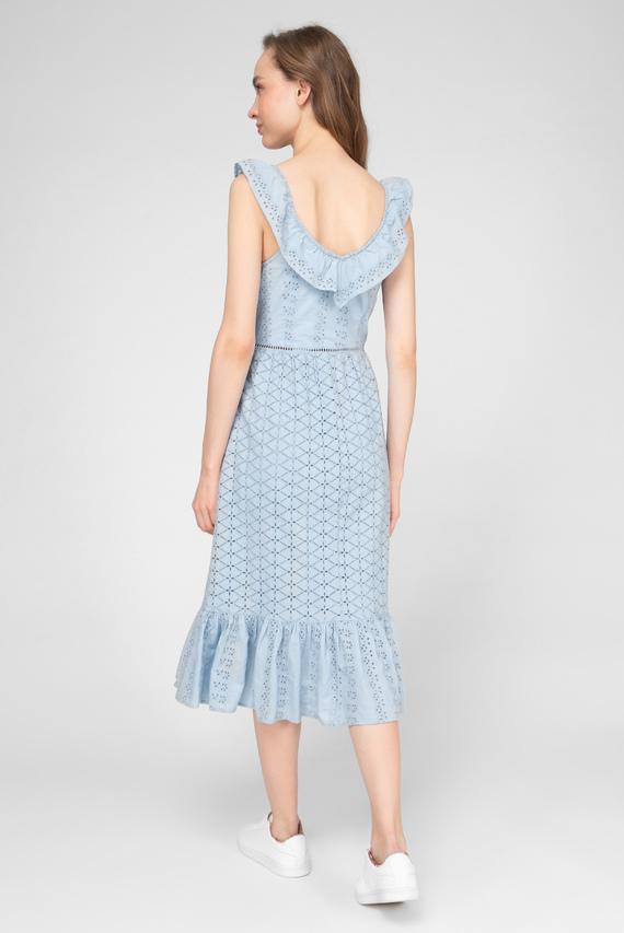 Женское голубое платье