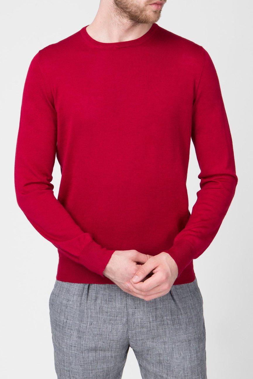 Мужской бордовый джемпер