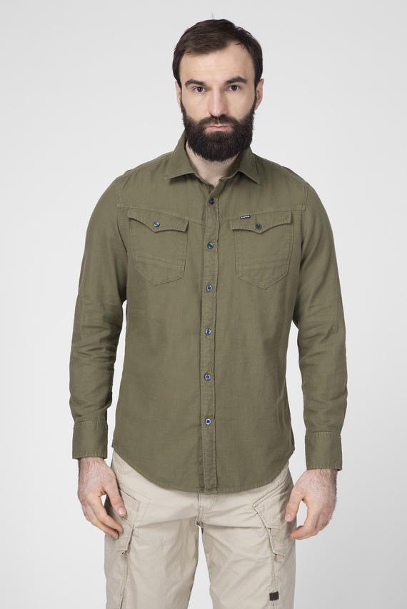 Мужская зеленая рубашка Arc 3d Slim