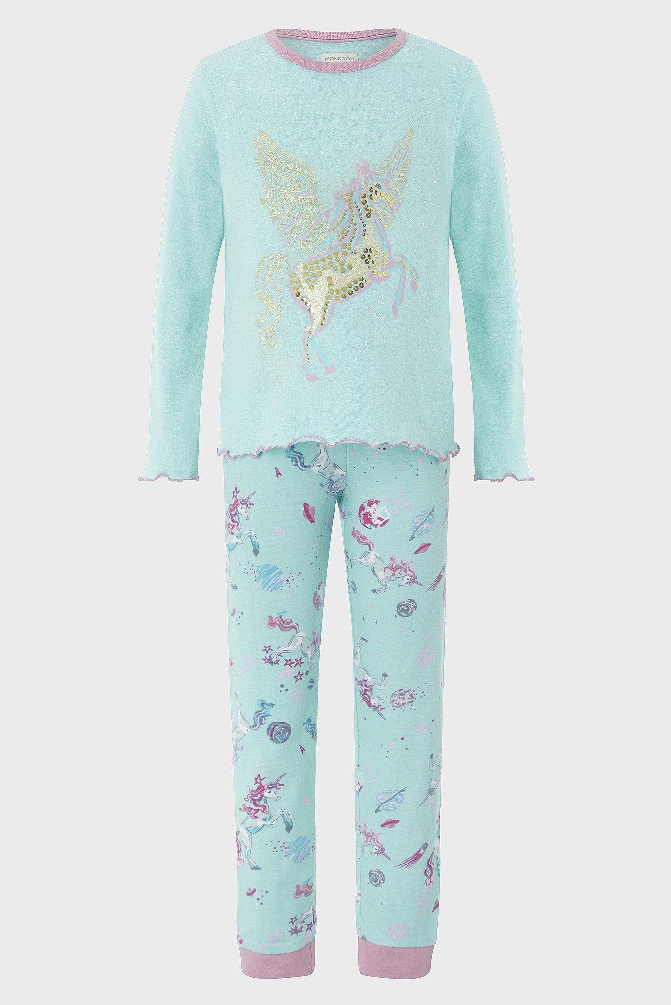 Купить Детская голубая пижама Peggy Unicorn (лонгслив, брюки) Monsoon Children Monsoon Children 514258 – Киев, Украина. Цены в интернет магазине MD Fashion