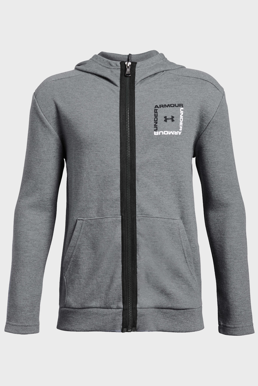 Детское серое худи Unstoppable Double Knit Full Zip