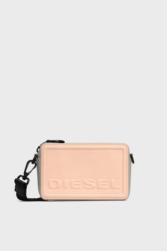 Женская розовая кожаная сумка через плечо ROSA