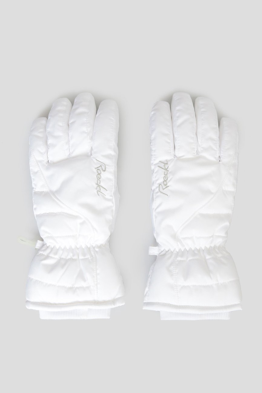 Женские белые перчатки