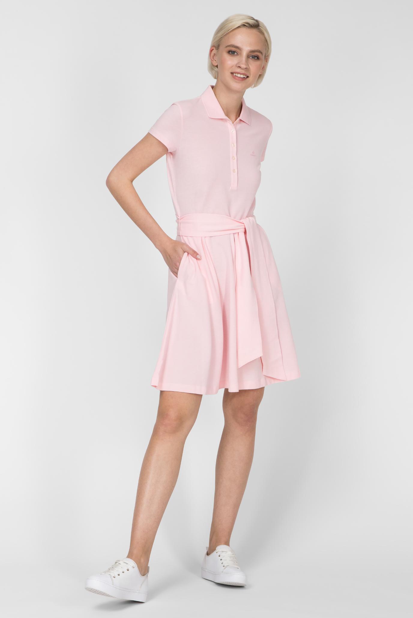fcecd84981e65 Купить Женское розовое платье-поло OXFORD PIQUE Gant Gant 4202306 – Киев,  Украина. Цены в интернет магазине ...