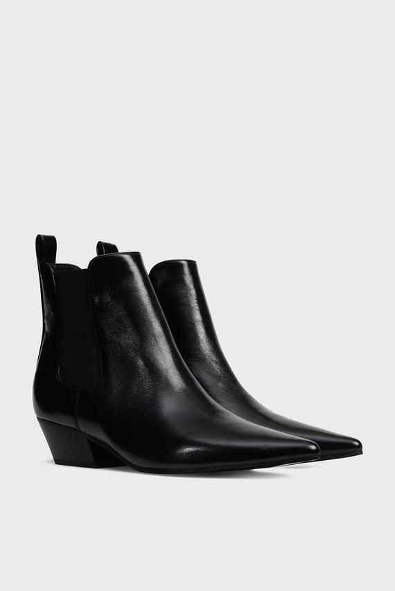 Женские черные кожаные челси PAOLA