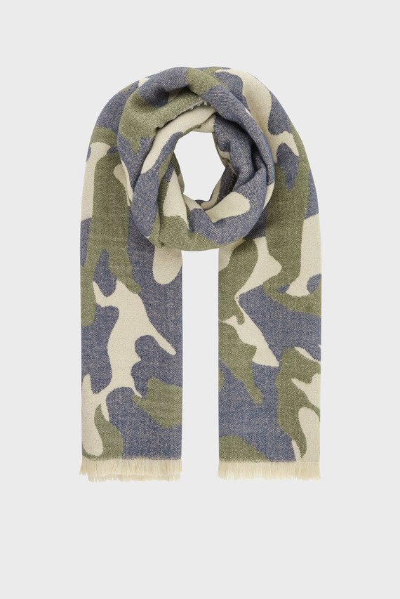 Женский зеленый шарф APPLETON BLANKET