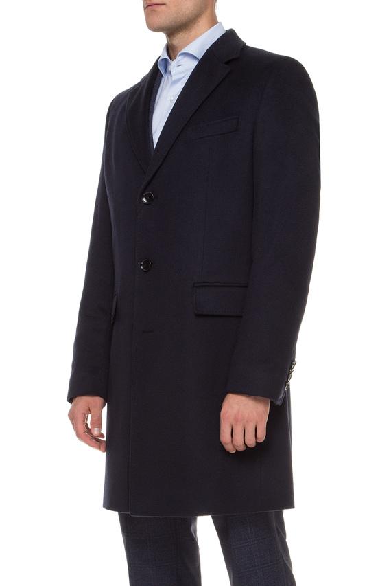 Мужское темно-синее кашемировое пальто