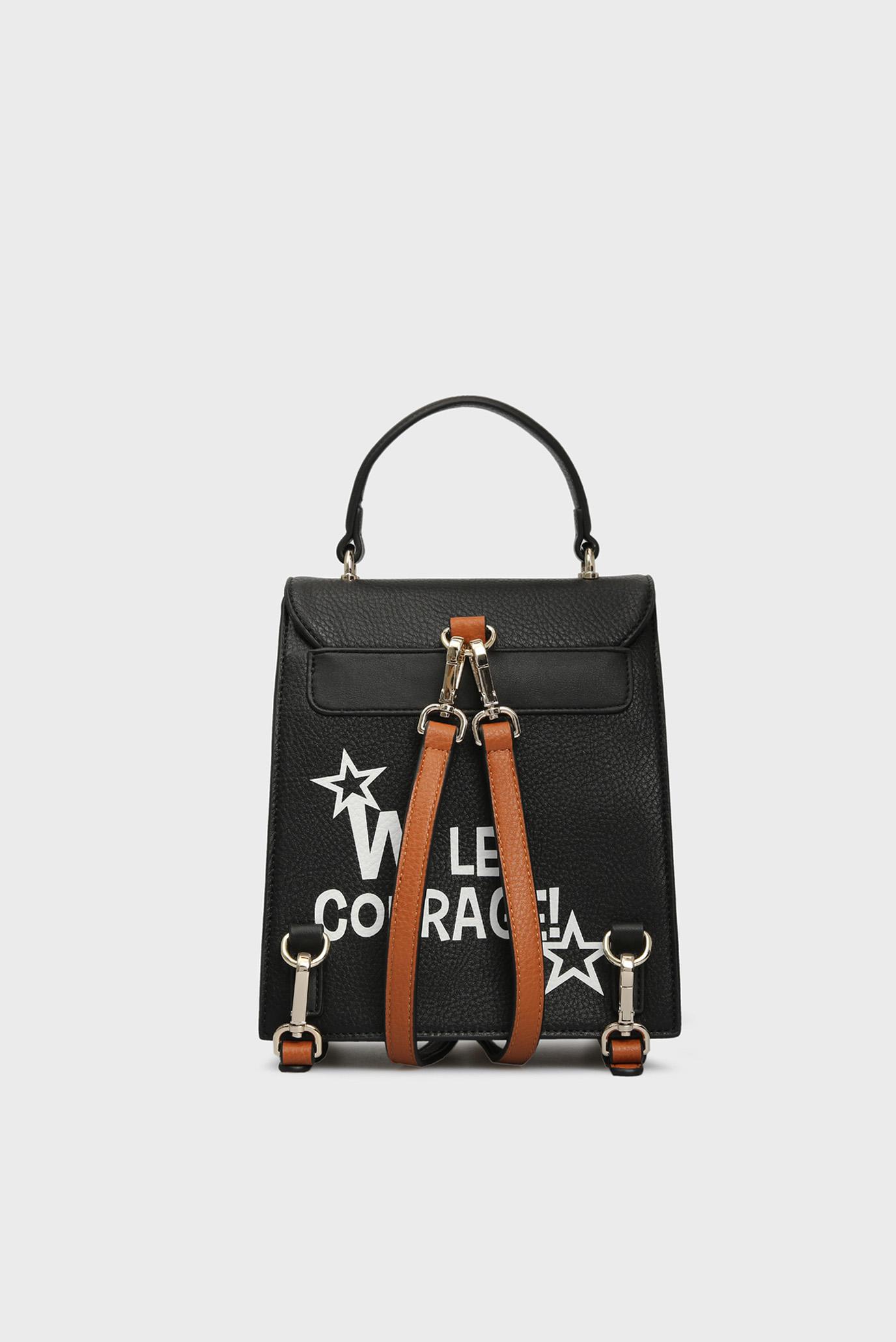 Женский черный рюкзак VIVE LE COURAGE Tosca Blu