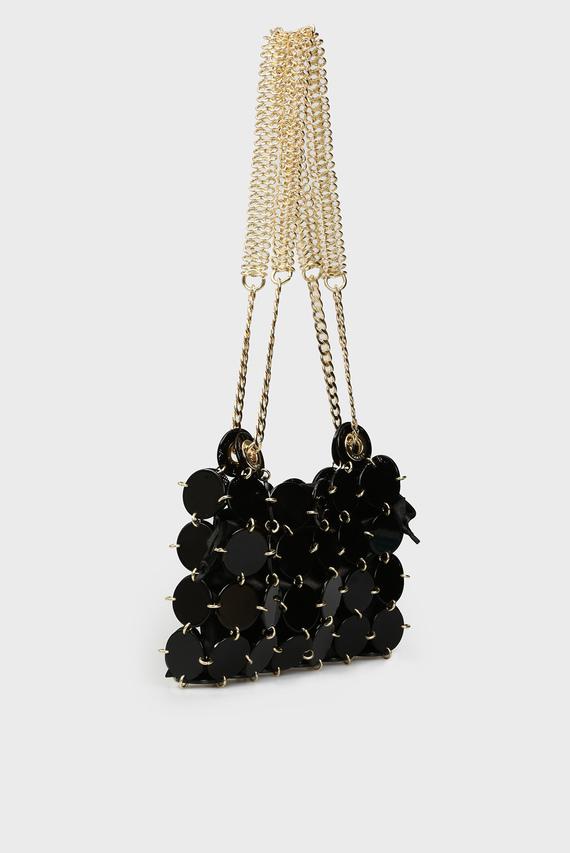 Женская черная сумка на плечо