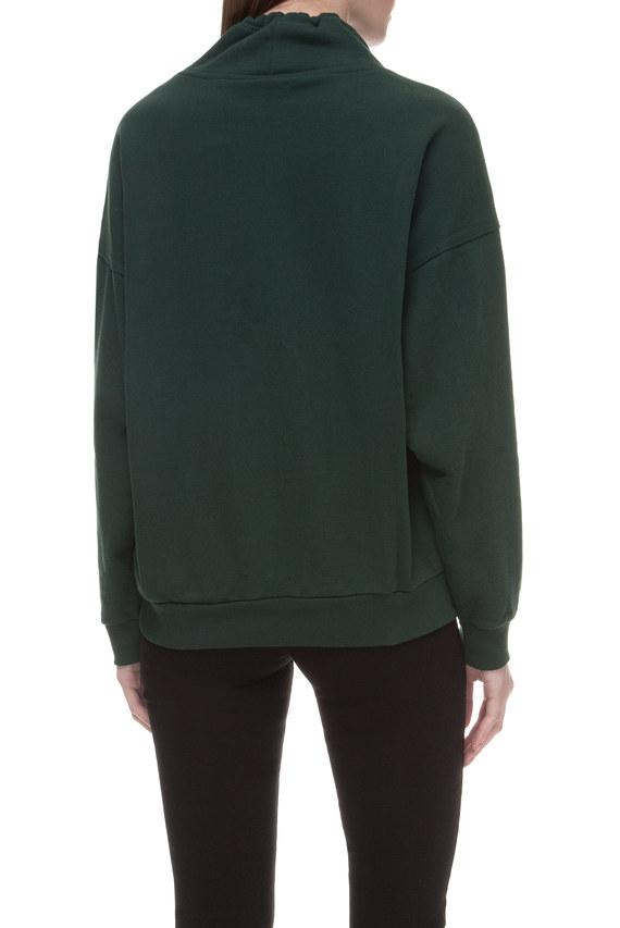 Женский зеленый свитшот