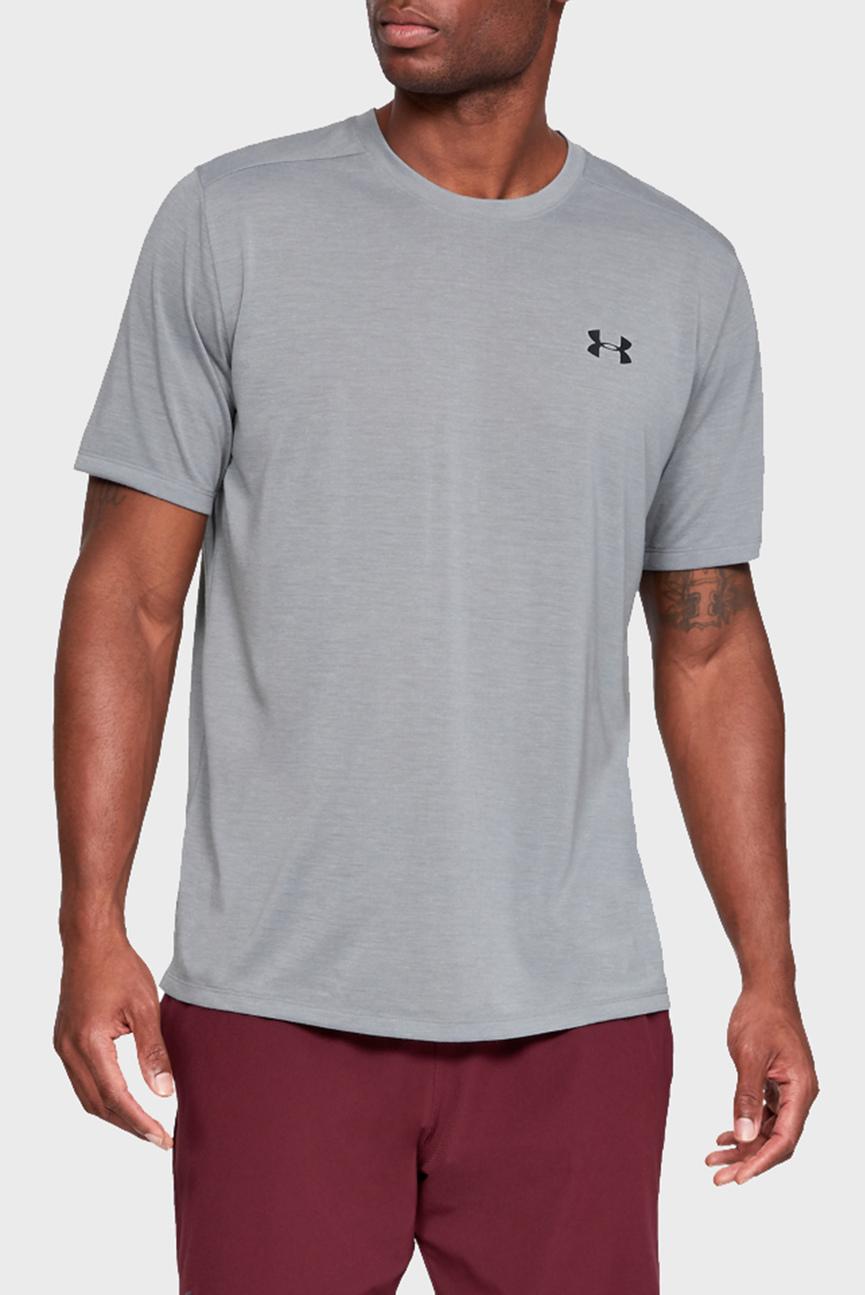 Мужская серая футболка UA Threadborne SS