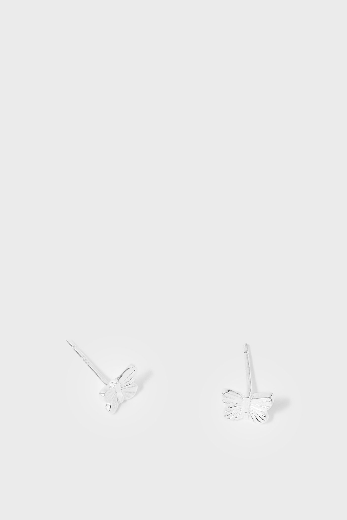 Женские серебряные серьги STBUTTERFLYSTUDS 1