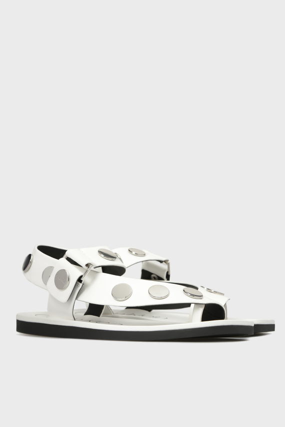 Женские белые сандалии ROCSI BOX SMOOTH