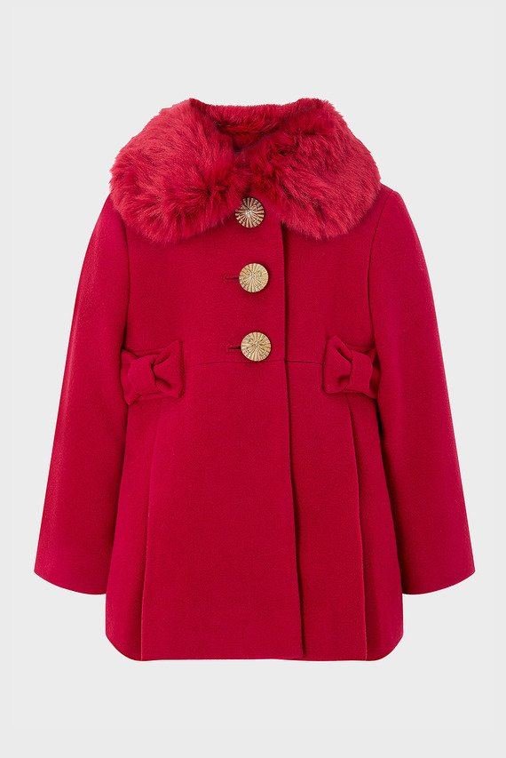 Детское красное пальто BABY BONNIE COAT