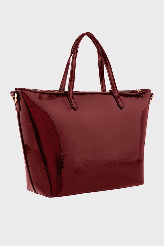 Женская бордовая сумка MINI YOLANDA PATENT