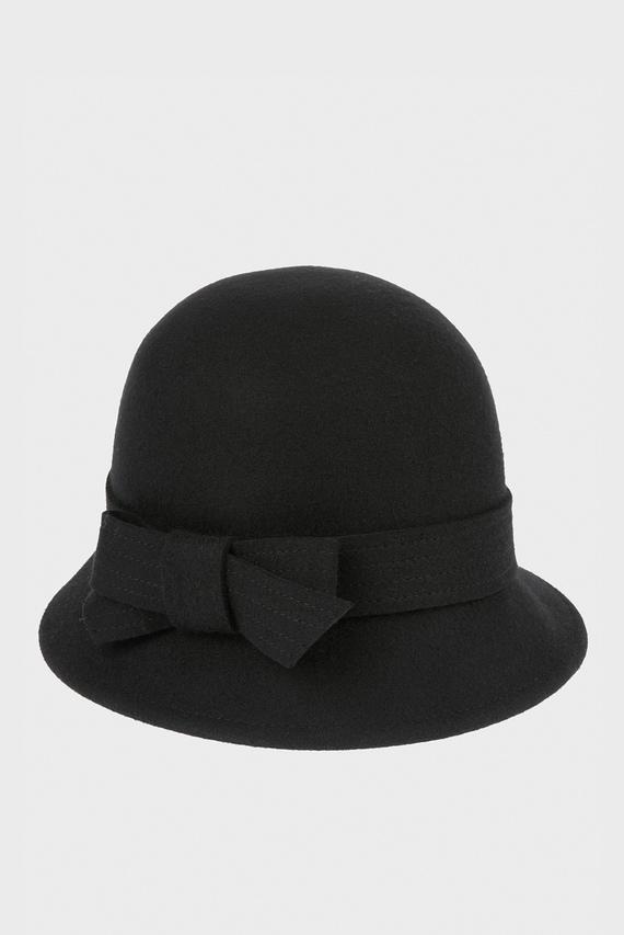 Женская черная шляпа