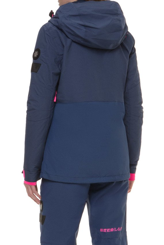 Женская темно-синяя лыжная куртка 2 в 1