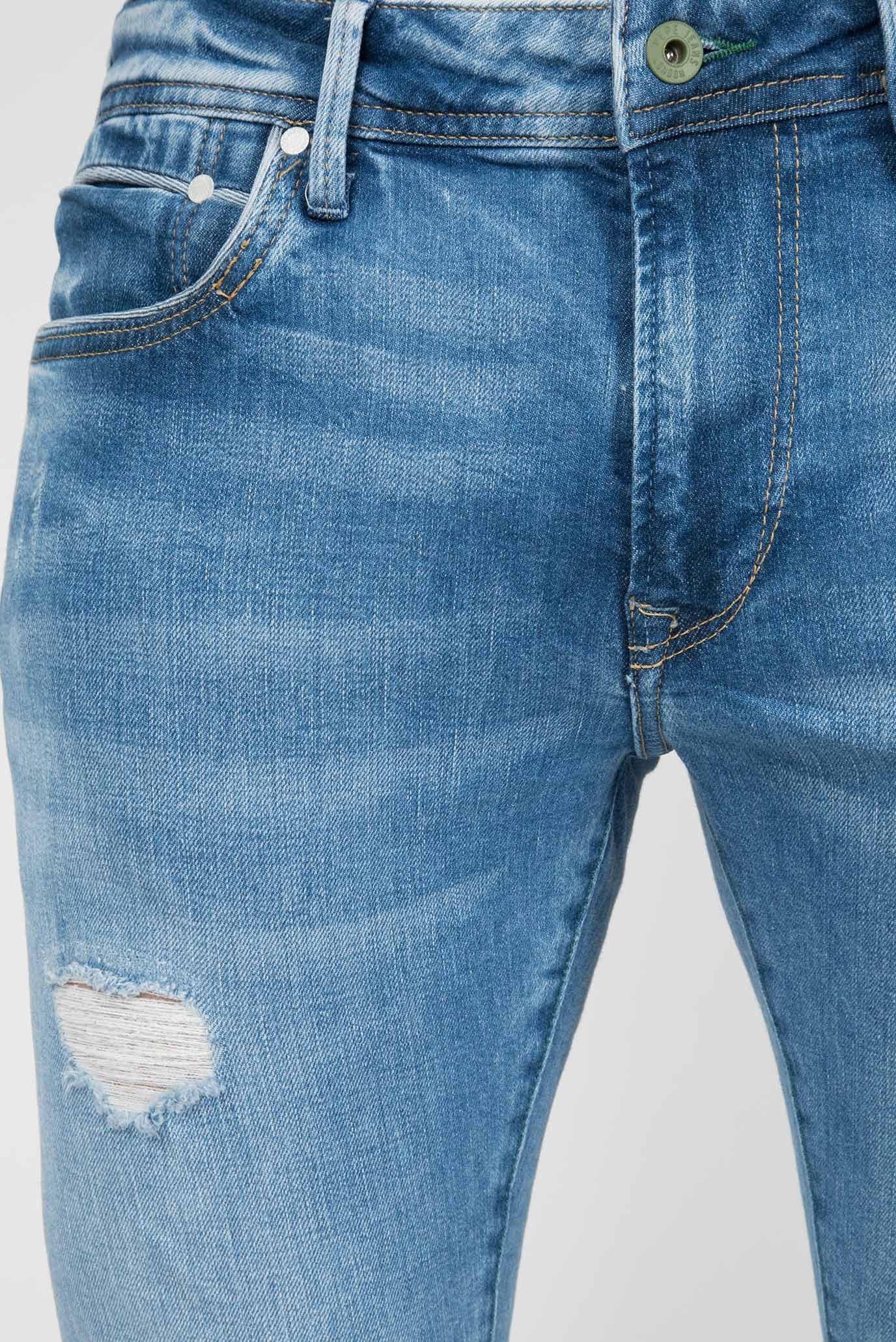 Мужские голубые джинсы STANLEY DISTRESSED ECO Pepe Jeans