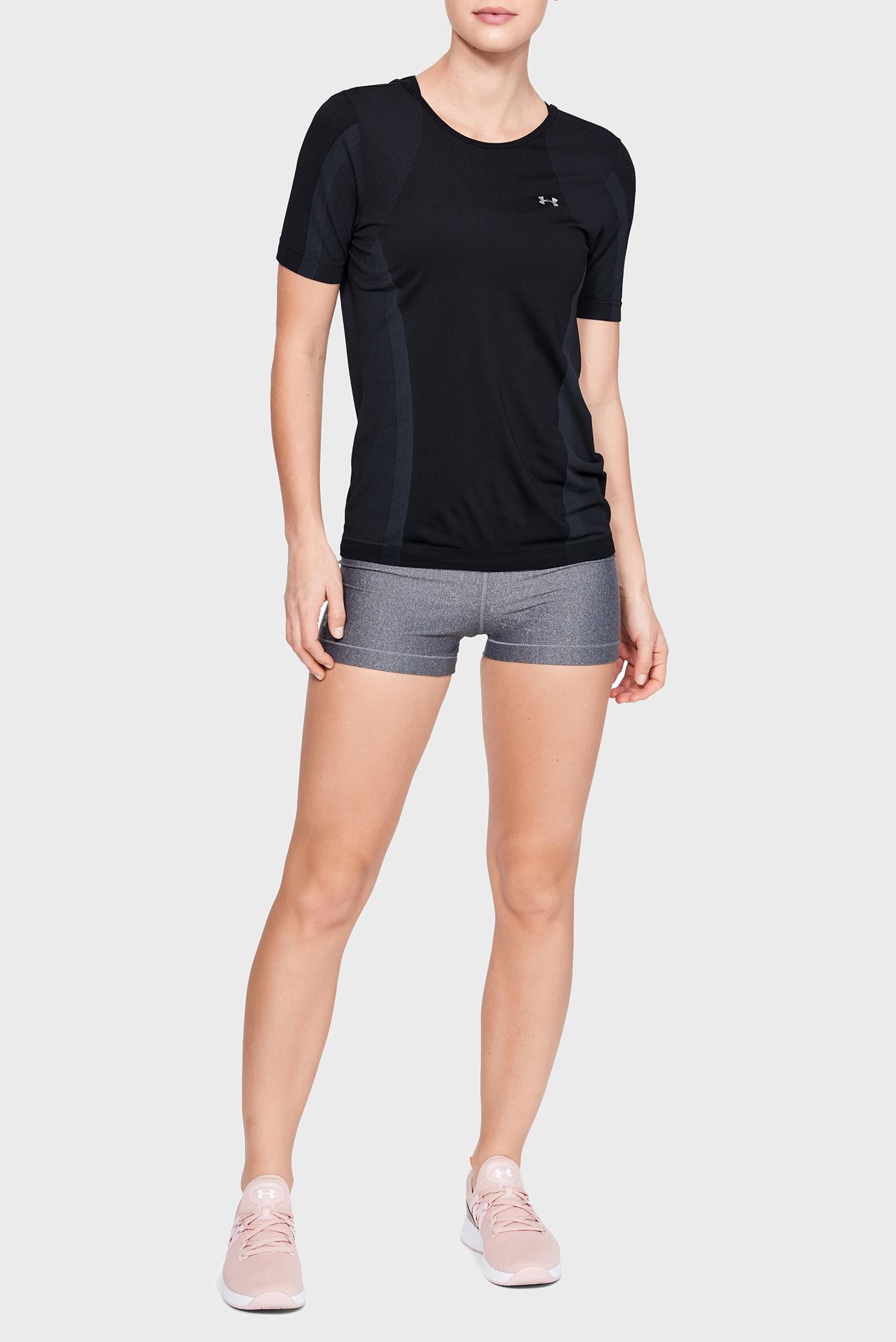 Женская черная футболка UA Vanish Seamless SS Keyhole Under Armour