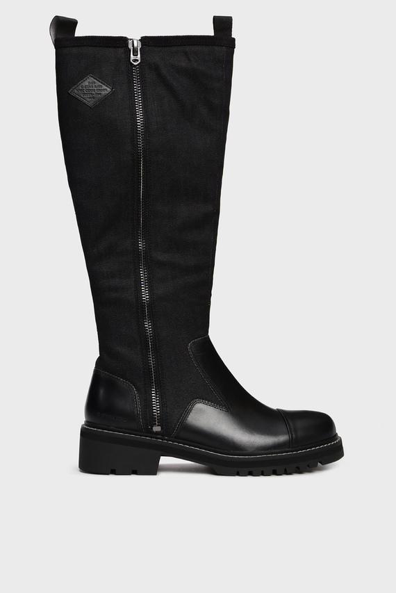 Женские черные сапоги Minor Zip