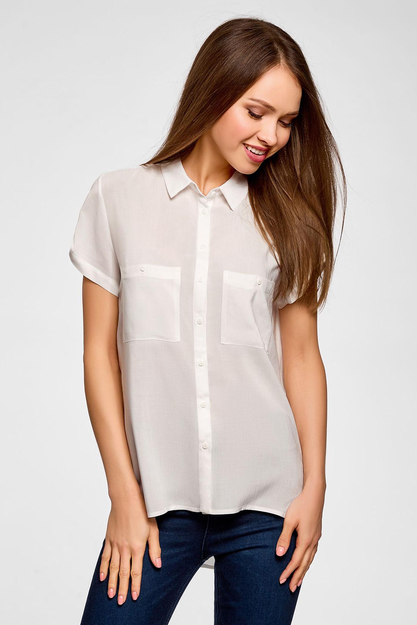 Купить Женская белая блуза Oodji Oodji 11400391-4B/24681/1200N – Киев, Украина. Цены в интернет магазине MD Fashion