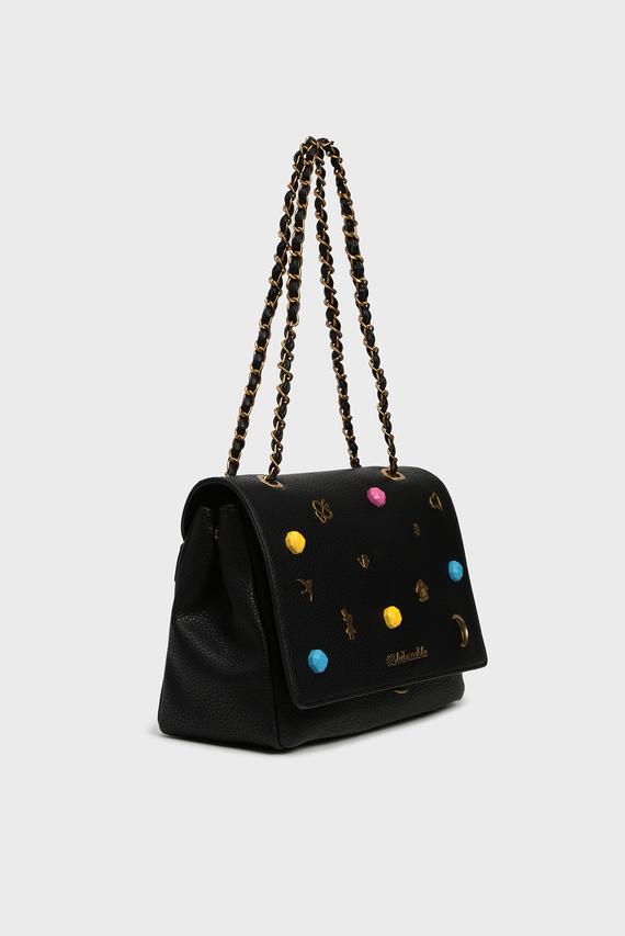 Женская черная сумка через плечо ARMY