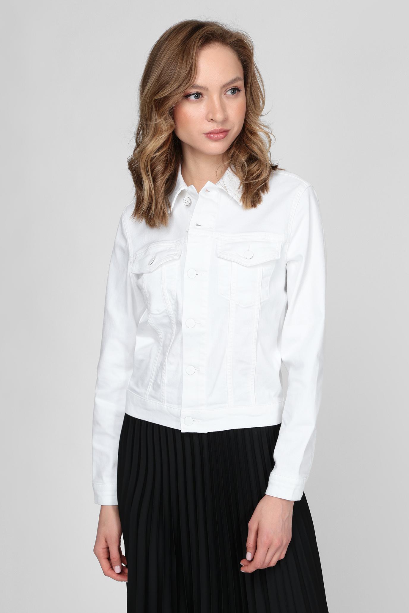 Женская белая джинсовая куртка DENIM TRUCKER JACKET 1