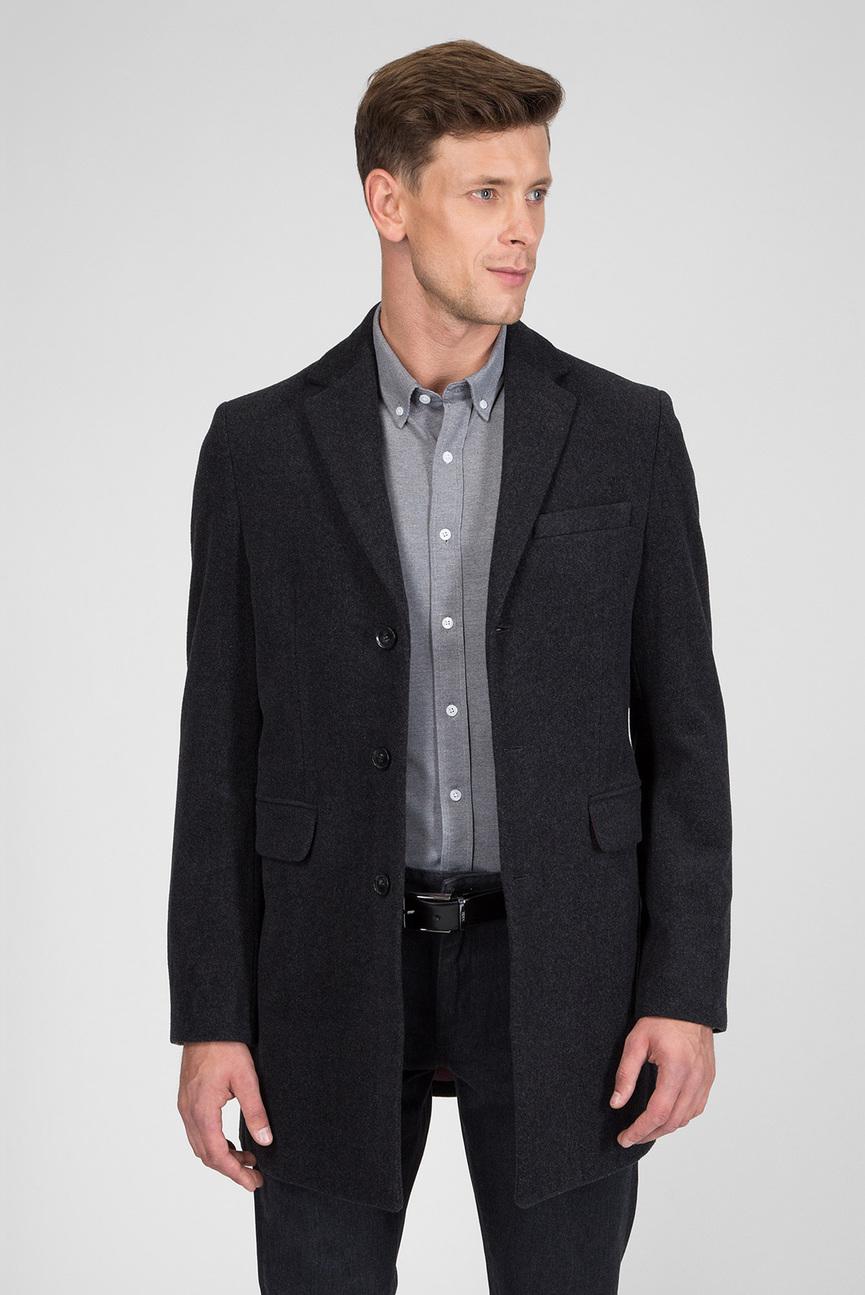 Мужское темно-серое пальто THE WOOL COAT
