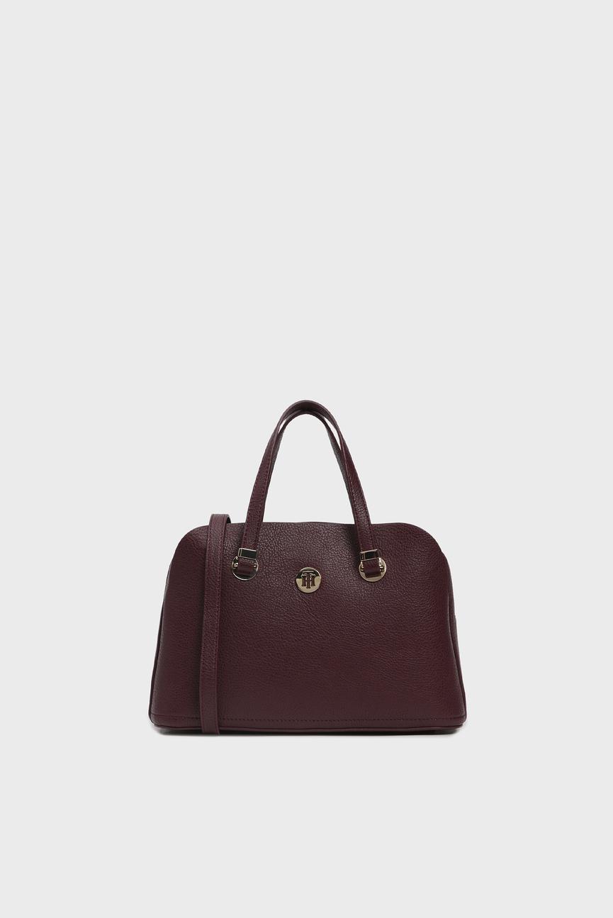 Женская бордовая сумка на плечо TH CORE MED SATCHEL