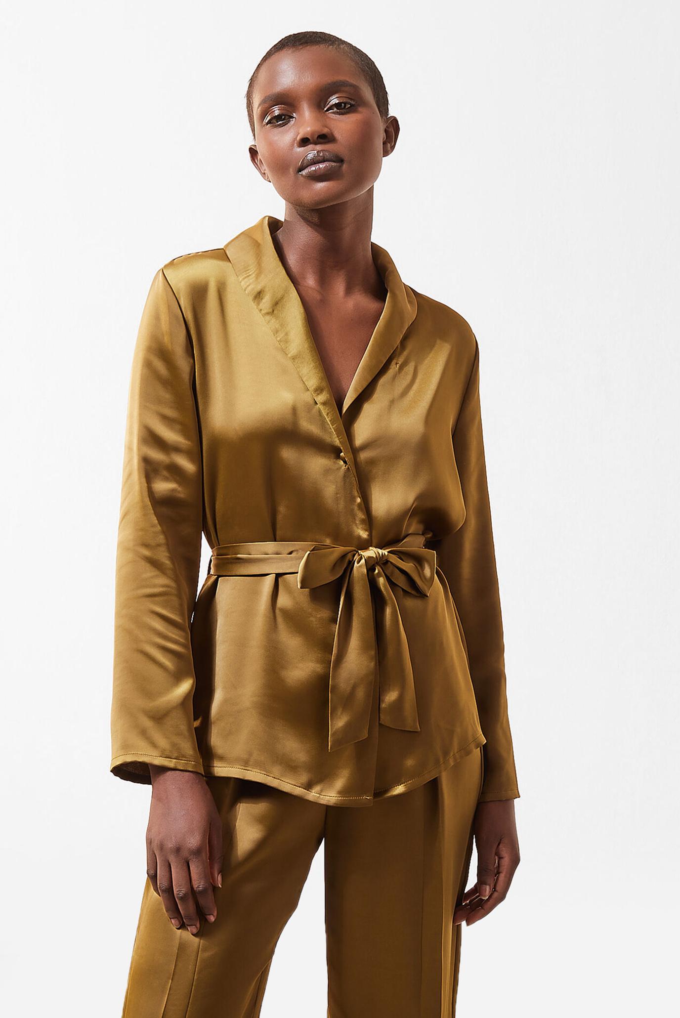 Женская золотистая рубашка ERINA 1