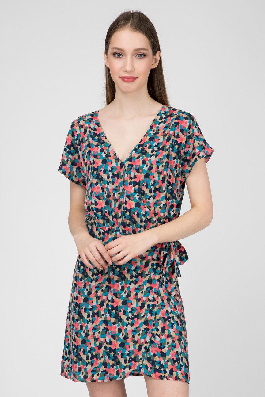 Женское принтованное платье на запах FIONA