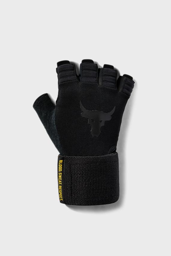 Мужские черные перчатки UA Project Rock Training Glove-BLK