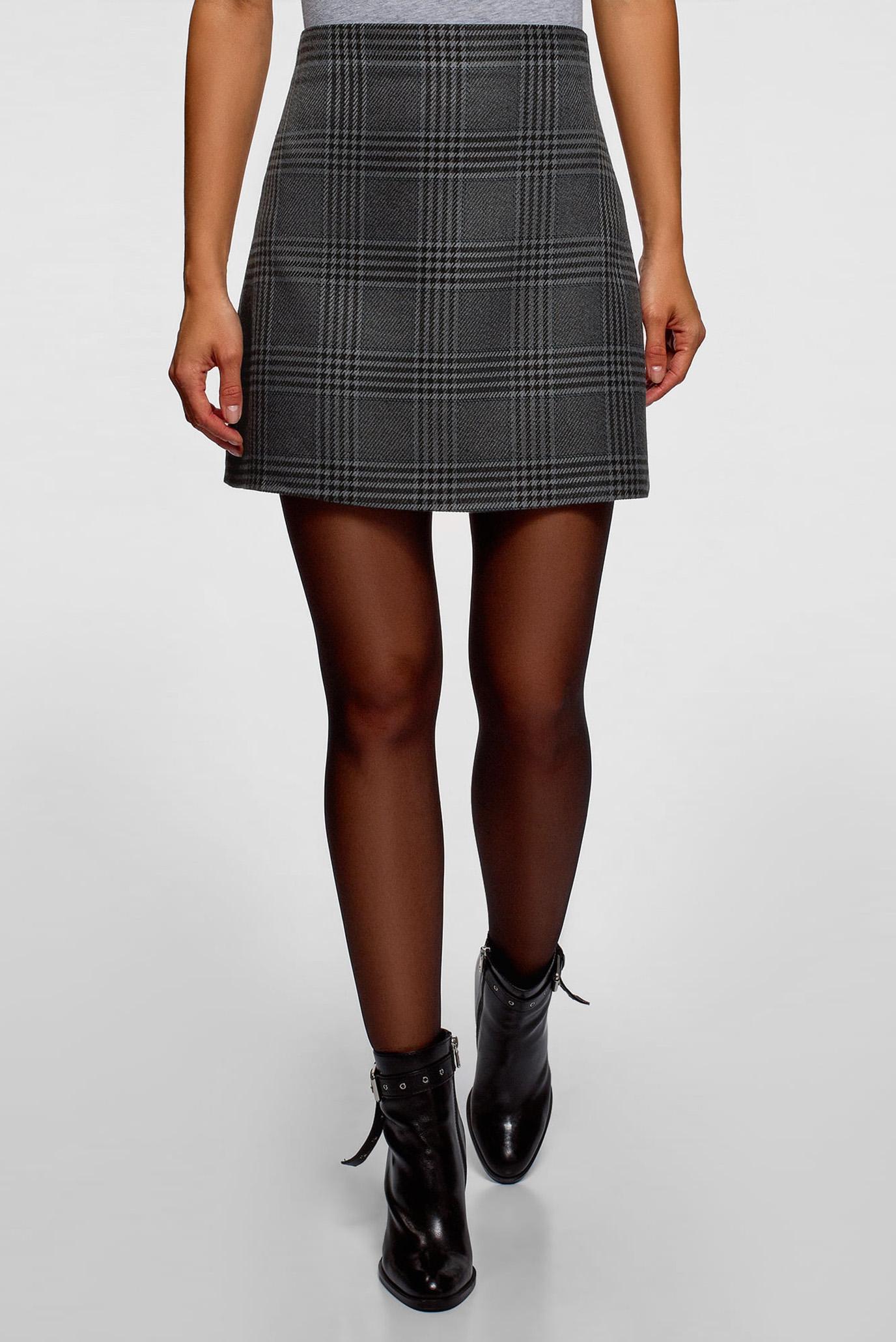 50cccbef205 Купить Женская серая юбка в клетку Oodji Oodji 11600413-10 45768 2529C –  Киев