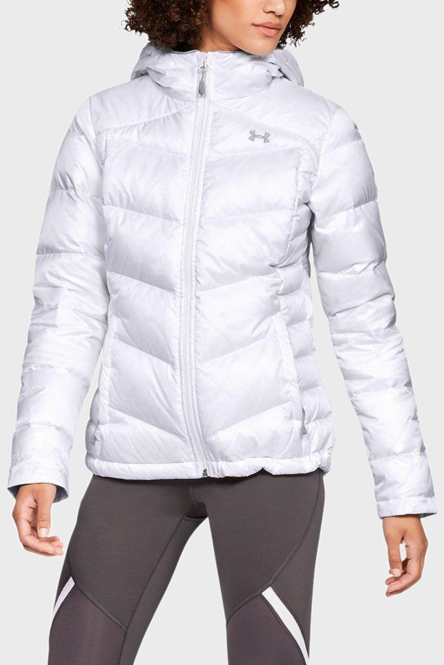 Женский белый пуховик Down Sweater Hooded - WARM