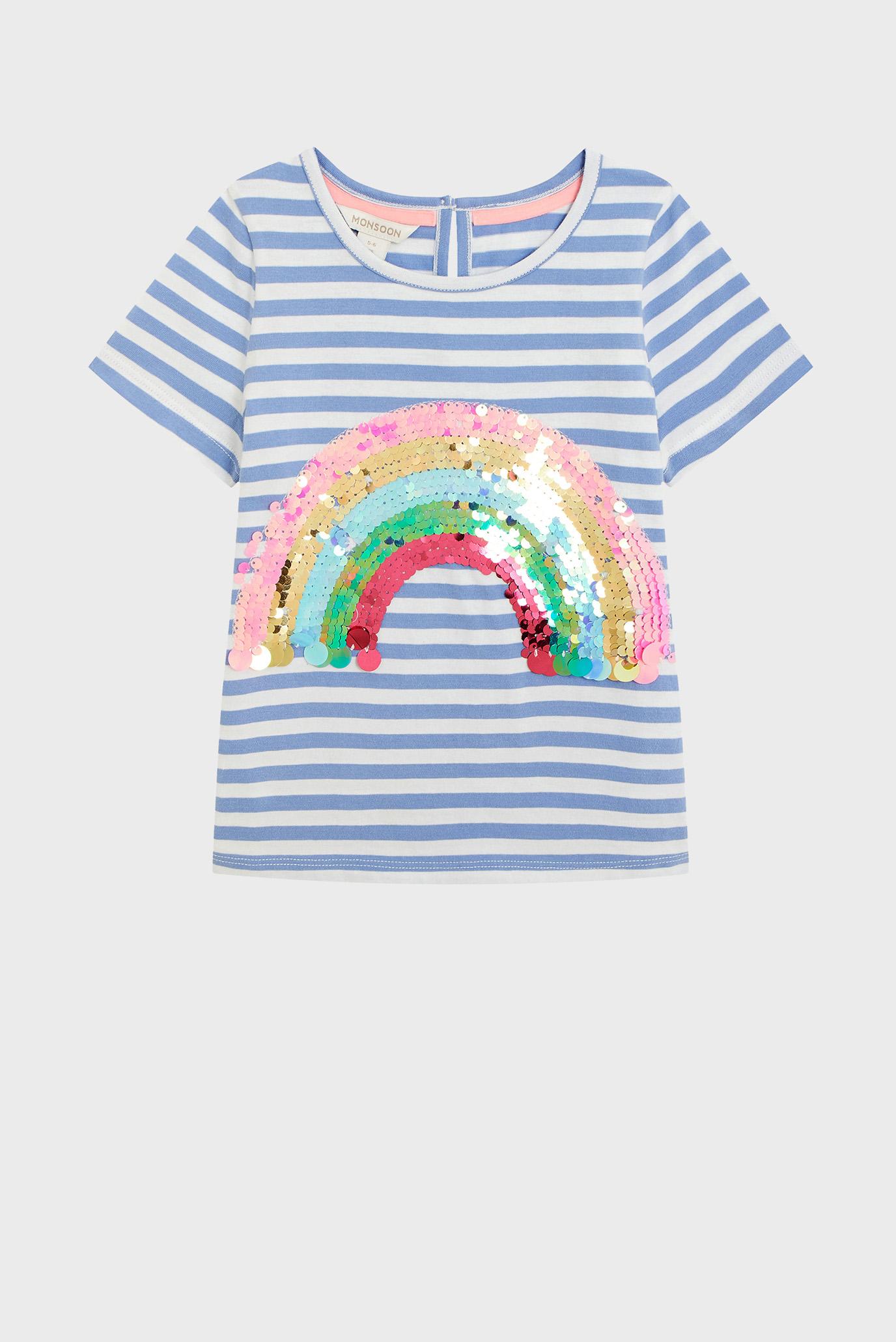 Детская футболка в полоску STRIPE SEQUIN RAINBO 1