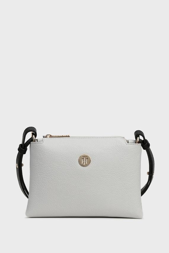 Женская белая сумка через плечо TH CORE