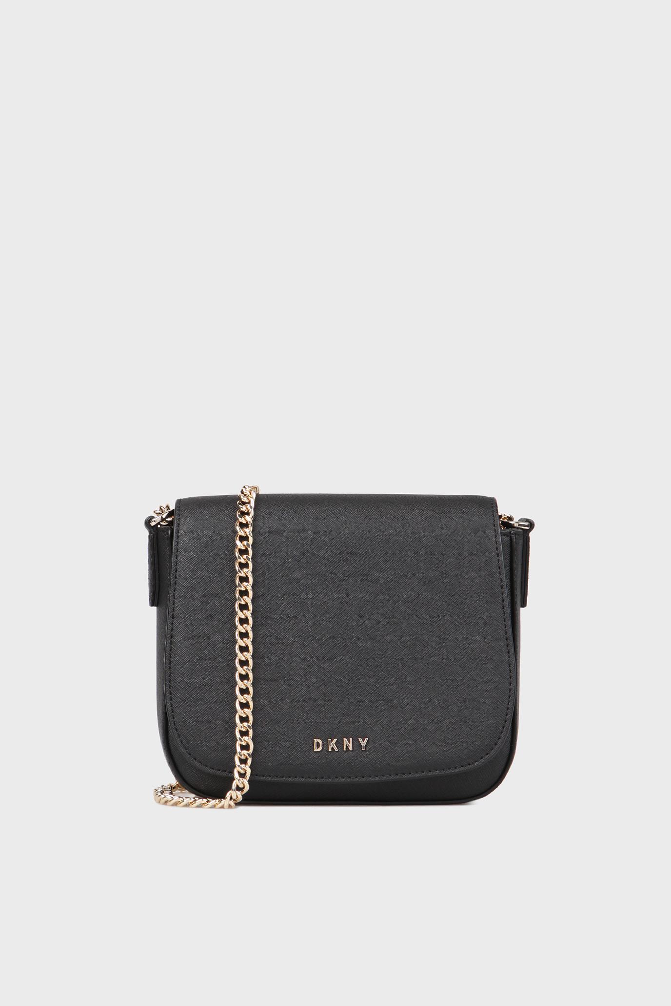 3845962dbad0 Купить Женская черная кожаная сумка через плечо DKNY DKNY R3101024 – Киев,  Украина. Цены в интернет магазине ...