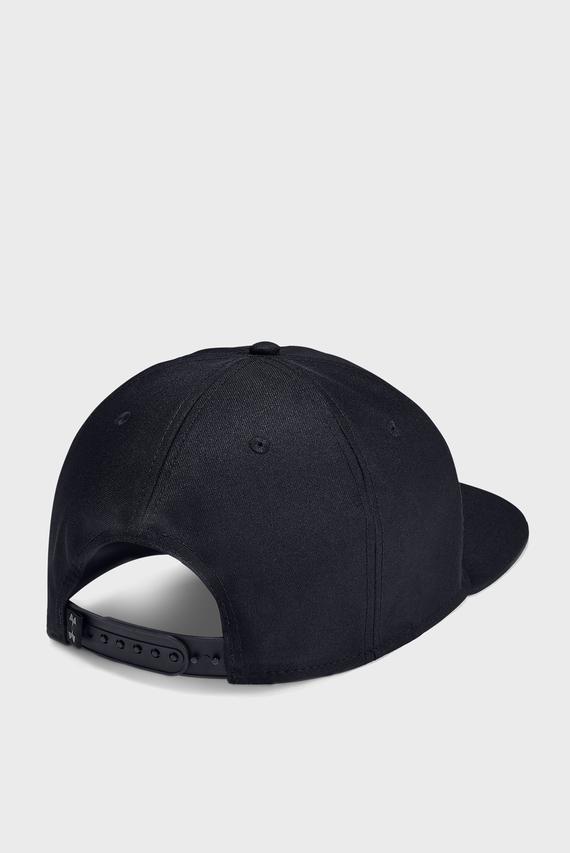 Мужская черная кепка UA Project Rock Strength Flat Brim