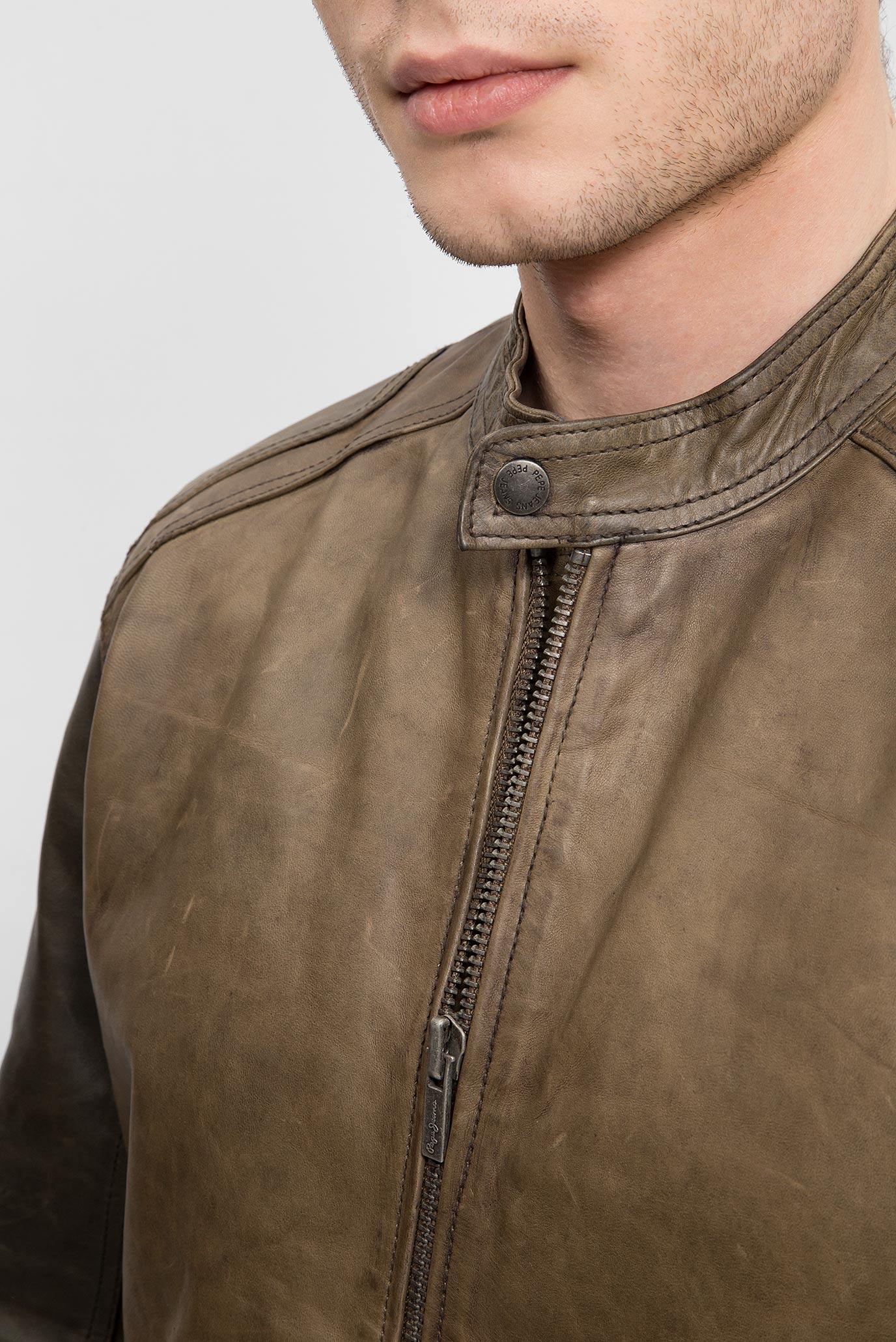 d4541a17c2c Купить Мужская коричневая кожаная куртка VINCENT Pepe Jeans Pepe Jeans  PM401502 – Киев