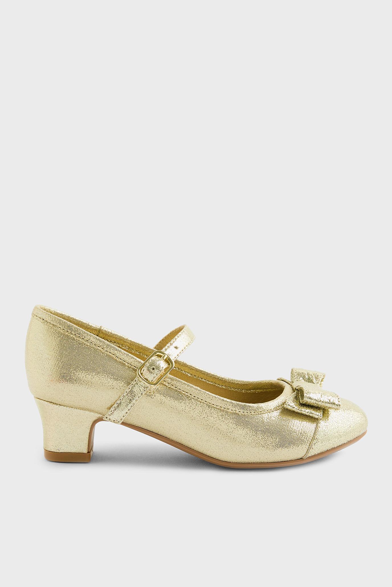 Детские золотистые туфли BOW SHIMMER FLAMENCO 1