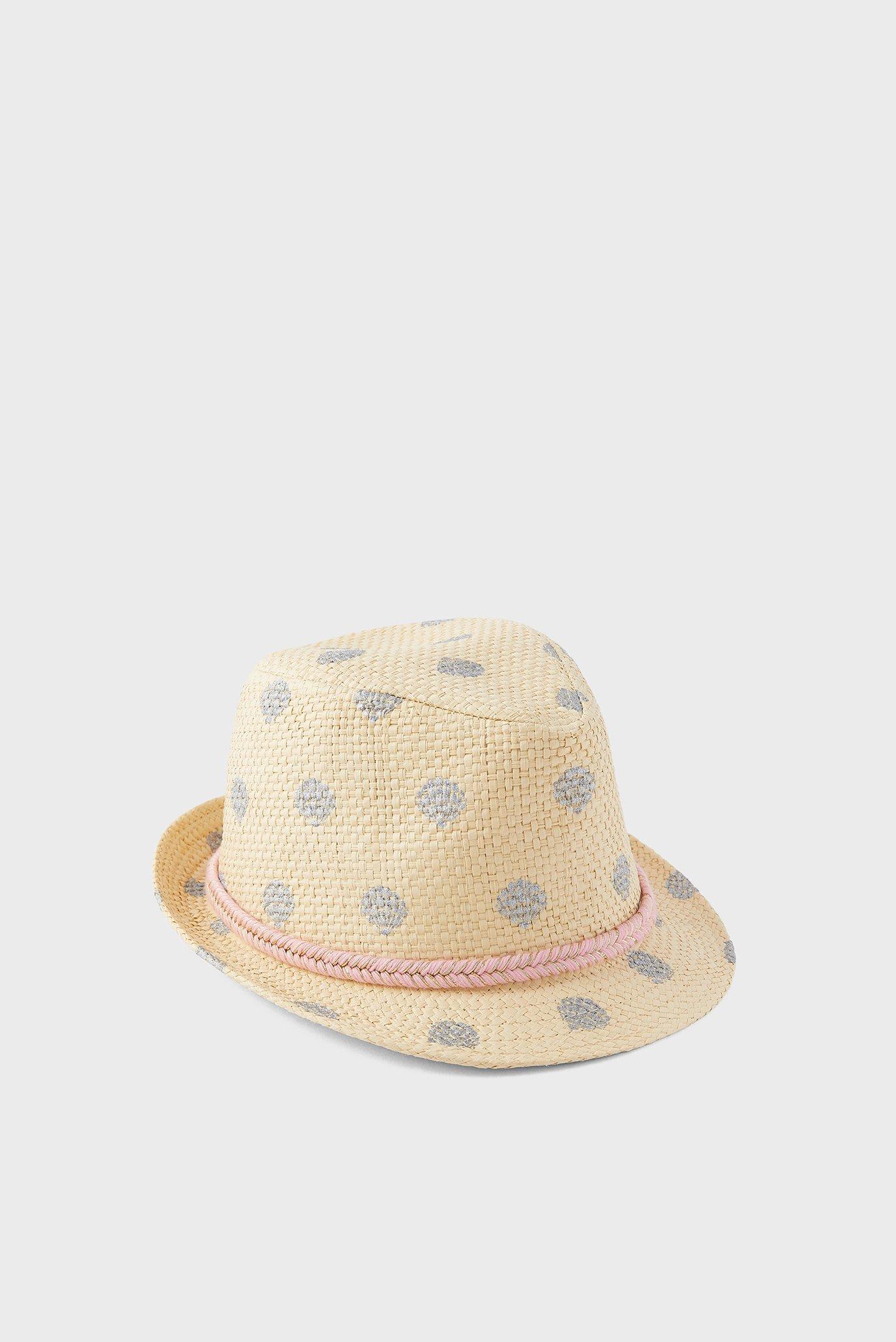Дитячий бежевий капелюх FOIL SHELL PRINT TRI 1