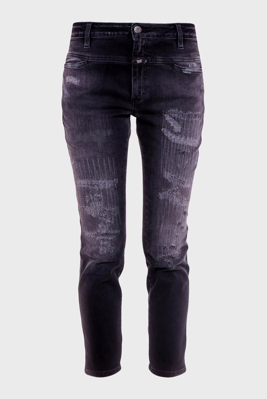 Женские серые джинсы CROPPED WORKER
