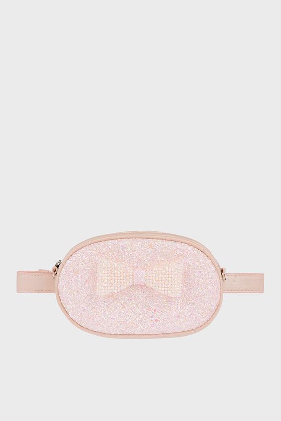 Детская розовая поясная сумка Bonnie Dazzle Bow