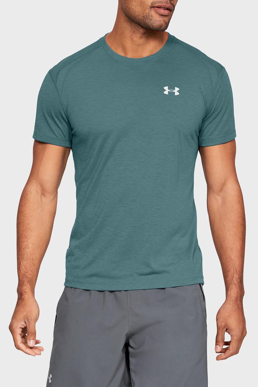 Мужская темно-бирюзовая футболка UA STREAKER 2.0 SHORTSLEEVE
