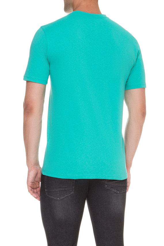 Мужская бирюзовая футболка