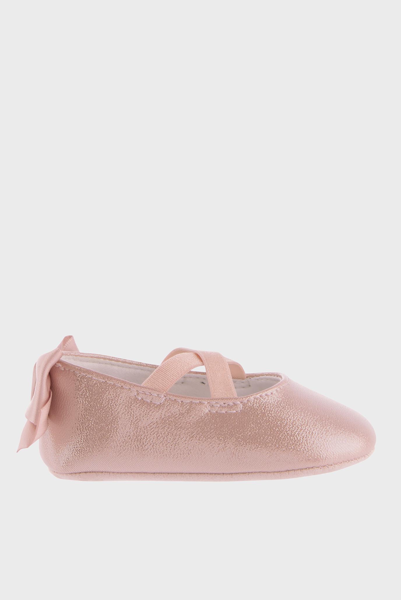 Детские розовые балетки BABY VALERIA SHIMMER 1