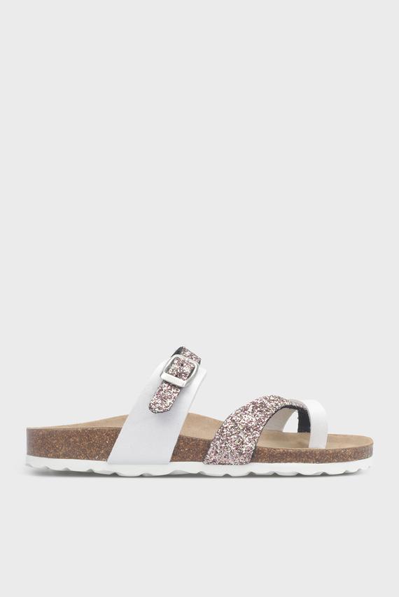 Женские белые сандалии